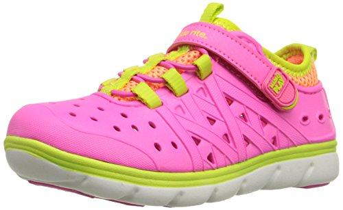 Stride Rite Made 2 Play Phibian Sneaker Sandal Water Shoe (Toddler/Little Kid/Big Kid), Pink, 1 M US Little Kid