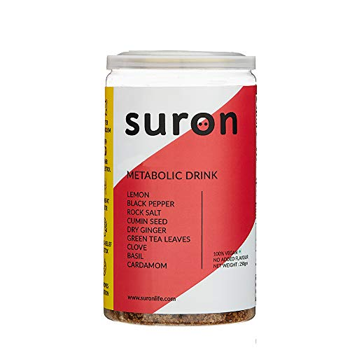 Suron Metabolic Drink Mix, Natural & Healthy Powder with 9 Good Ingredients | No Artificial Colors, Flavors, Sweeteners | Helps Improve Digestion, Assists Body Detox and Supports Metabolism