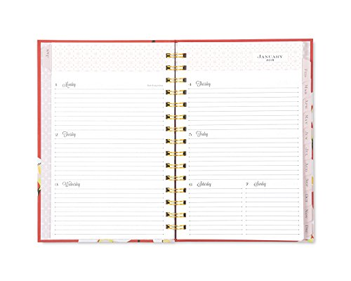 "Snow & Graham for Blue Sky 2018 Weekly & Monthly Planner, Hardcover, Twin-Wire Binding, 5"" x 8"", Quince Photo #2"