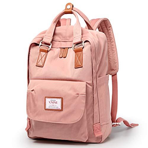 Travel Backpack School College Backpack Casual Daypacks 14L/16L Lightweight Bag Fits 14/15.6 Inch Laptop (16L, Pink)