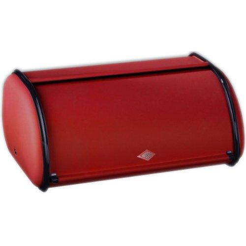Wesco Rollbrotkasten klein 212 101 Stahlblech rot, 33 x 13,5 x 21,5 cm