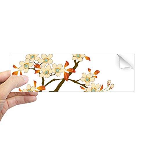 DIYthinker bladeren bloem plant behang muur patroon rechthoek bumper sticker notitieboekje sticker