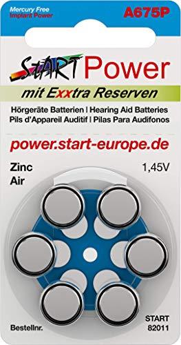 StartPower - 60 Pezzi Batteria per Impianto coclea, tipo, CI - tipo A675P - 1.45V - 550mAh - PR44P