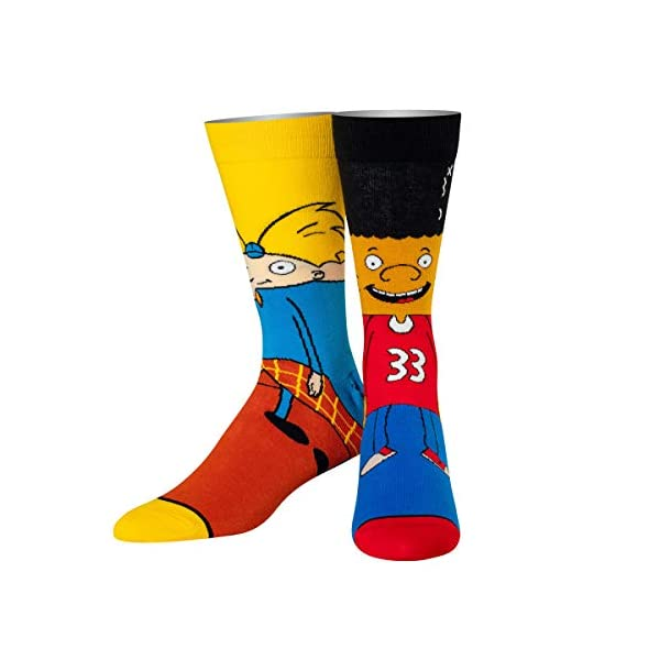 Odd Sox, Unisex, Nickelodeon, Retro Nick Cartoons, Crew Socks, Novelty Cool 90's