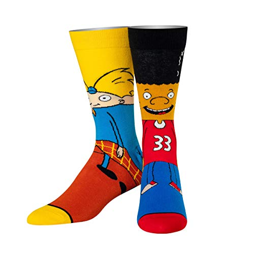 Odd Sox, Unisex, Nickelodeon, Hey Arnold & Gerald, Crew Socks, Cartoon Cool 90's