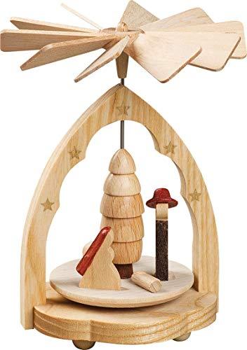 Nativity Scene Small Natural German Wood Christmas Pyramid Made in Germany