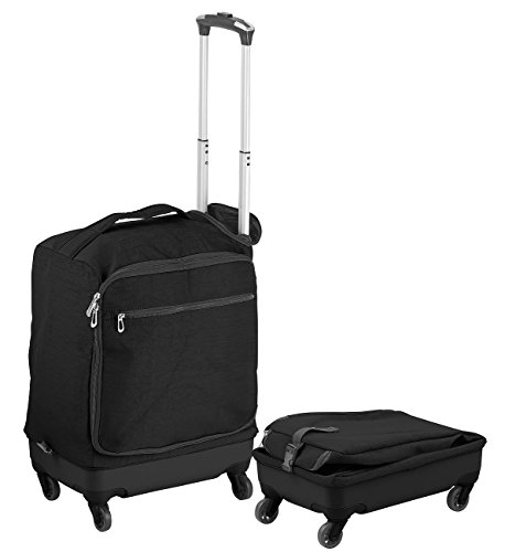 Xcasel equipaje de mano Carretilla: Carro de viaje ultraligero con 46 litros de volumen, hasta 30 kg, 4 roles (Carro de cabina)