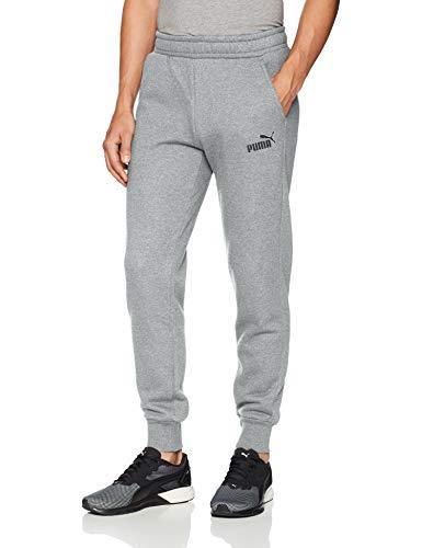 PUMA Men's Essential Logo Sweat Pants, Closed Medium Gray Heather, XX-Large
