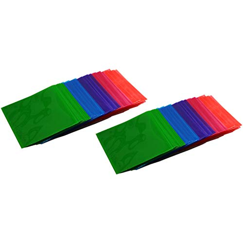 100 QUVIDO CD/DVD/Blu-Ray PP Schutzhüllen Color-Mix (2 x 50 Stück)