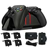 Controller Charger for Xbox Series X S - Dual Controller Charger Kit Compatible with Xbox Series X/Series S/One/One X/One S Elite with 2 Rechargeable Battery Packs 4 Battery Covers and a Charging Cord