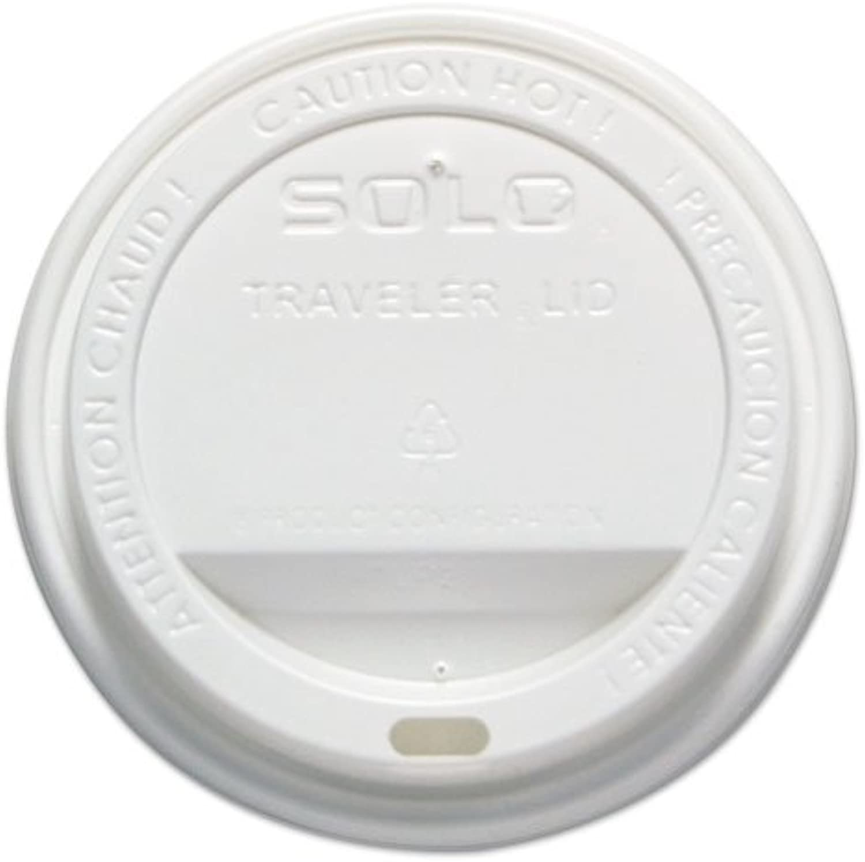 Traveler Drink-Thru Lid, 12-16oz Hot Cups, White, 300 Pack, 6 Packs Carton
