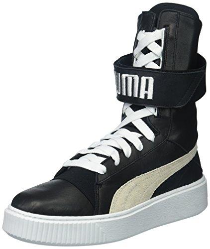 PUMA Damen Platform Boot Wn, Stiefel mit Plateausohle, schwarz/weiß, 38 EU
