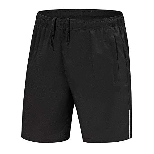 YLBH Sporthose Herren Stretch Outdoor Sport Shorts Training Fitness Basketball Laufen FüNf-Punkt-Hose Black 6XL Baumwolle Sport Jogger Classic Fit Sommershorts, Elastische Taille