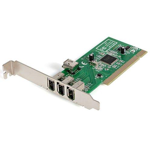 StarTech.com FireWire 1394a PCI - Adaptador con 4 puertos, 1 interno y...