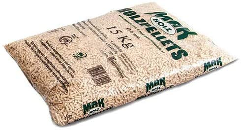 10 sacchi da 15 kg pellet MAK Holz austriaco chiaro abete bianco certificato EN / DIN PLUS