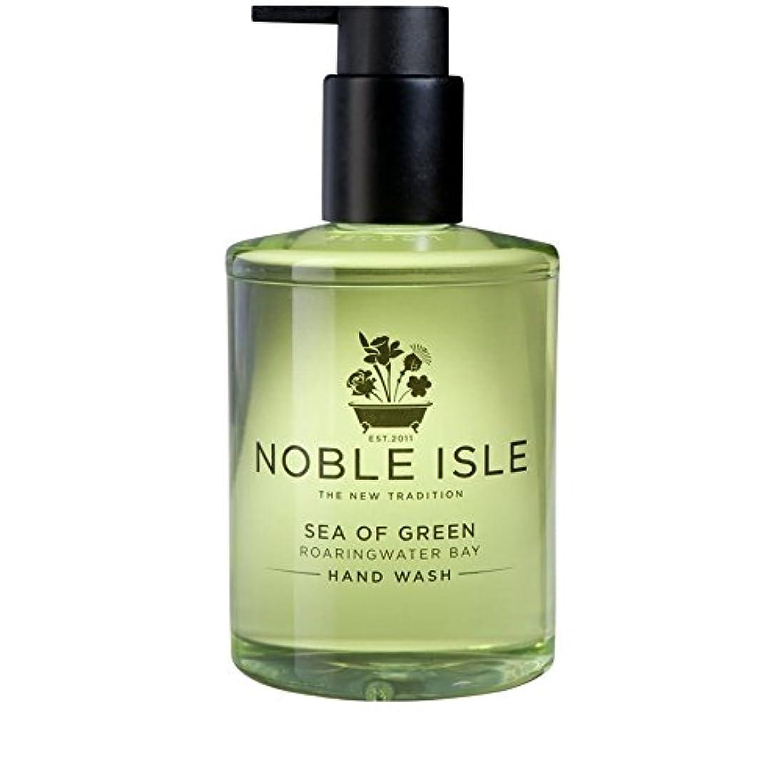 シャット戸惑うロッカーNoble Isle Sea of Green Roaringwater Bay Hand Wash 250ml - 緑ベイハンドウォッシュ250ミリリットルの高貴な島の海 [並行輸入品]