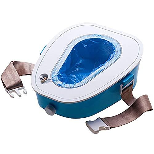 Toilet Portátil Para Inodoro De Camping Para Coche, Inodoro De Emergencia Móvil Con Cinturón De Seguridad Para Adultos / Niños / Mujer Embarazada / Anciano, Apto Para Exteriores, Camping, Senderismo