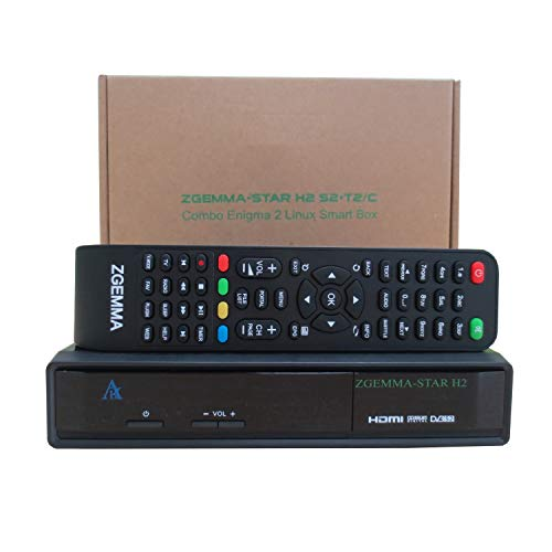 ZGEMMA Star H2 con spina UK a 3 poli DVB-S2 + DVB-T2   C E2 Linux Full HD FTA ricevitore Combo