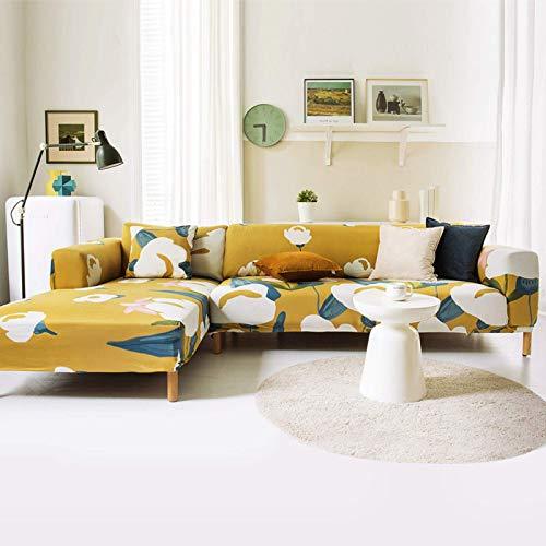 JBNJV Funda de sofá Suave, Funda de sofá de instalación rápida Lavable a máquina, Funda Protectora con Estampado geométrico con Telas de diseño Ajustadas-J M: 145-185cm (57-74 Pulgadas)