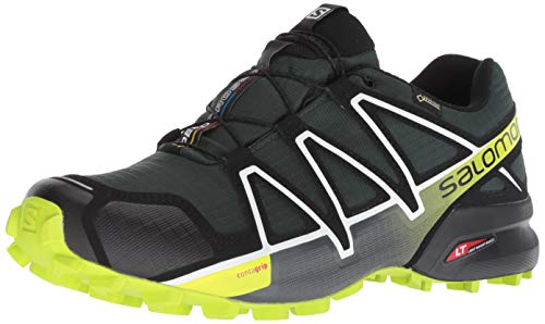 Salomon Men's Speedcross 4 GTX Trail Running Shoes, Green (Darkest Spruce/Black/Acid Lime), 9.5 UK (44 EU)