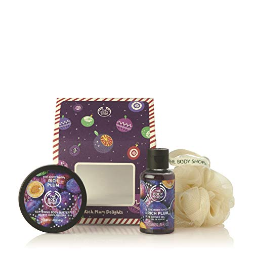 The Body Shop Rich Plum Gift Set, Exclusive Holiday Scent, Made with Community Trade Shea Butter, 3 Piece