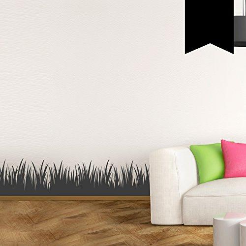Wandkings Wandtattoo Grasbordüre in Meterstücken 100 x 20 cm schwarz - erhältlich in 33 Farben