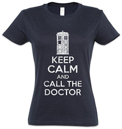 Urban Backwoods Keep Calm and Call The Doctor Damen T-Shirt Blau Größe XS