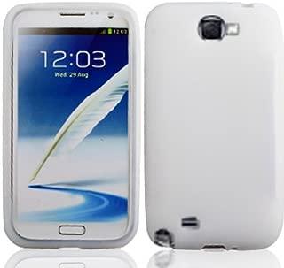 LF Silicon Skin Case Cover, Lf Stylus Pen and Lf Screen Wiper Bundle Accessory for Verizon Samsung Galaxy Note 2 N7100 (White)