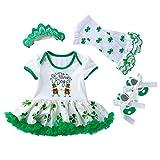 VALICLUD Chic 1 Set Saint Patrick Day Babykostüm Set Klee Babykleid Frühling Sommer Kleidung für 3-6 Monate
