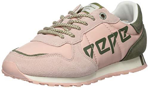 Pepe Jeans Verona W Logo, Zapatillas para Mujer, Rosa Lavado 313, 39 EU