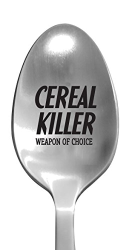 "Laser Engraved""Cereal Killer"" Stainless Steel Spoon - Unique Funny Gifts"