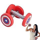 QINGMM Kurzhanteln Neopren-Hanteln, Fitness Home Gym Übung Griffige Handgewichte für Männer und Frauen, 5kg Dumbbells 2er-Set