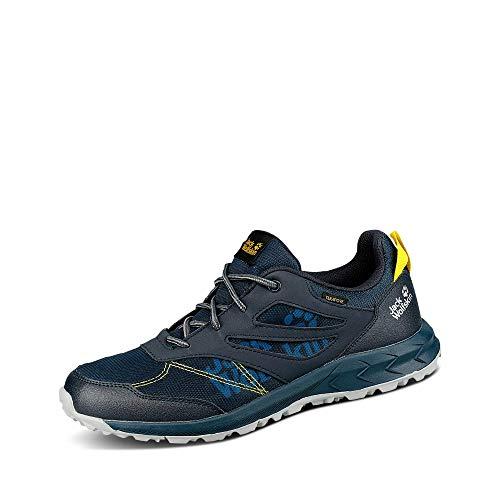 Jack Wolfskin Woodland Texapore Low K Outdoorschuhe, Dark Blue/Yellow, 34 EU