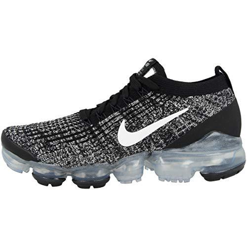 Nike W Air Vapormax Flyknit 3, Zapatillas de Atletismo Mujer, Multicolor (Black/White/Metallic Silver 1), 36.5 EU