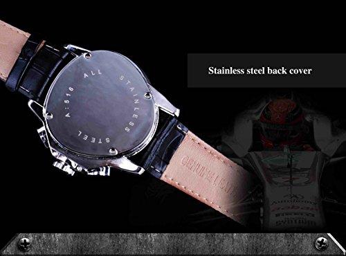 Jaragar Montre de poignet automatique pour homme Motif triangle Racing