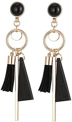 Pendientes Temperamento simple y moderno, pendientes largos exagerados, moda exquisita y mujer clásica popular.