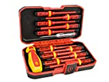 Eacker 1000V Insulated Screwdriver Set with Life-time Warranty Included,All-in-One Premium Professional 13-Pieces CR-V Magnetic Phillips Slotted Pozidriv Torx Screwdriver