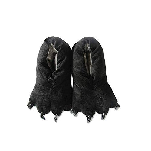 YLOVOW Claws Cotton Slippers Unisexo Otoño Invierno Zapatilla Lana De Coral Animal Pata Zapatos Claw Decor Pantuflas De Felpa,2,L