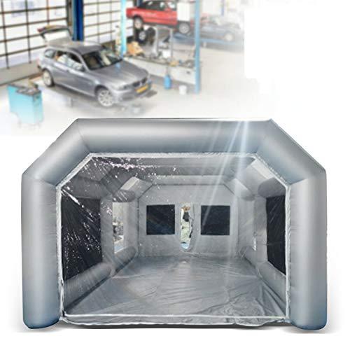 YiWon Aufblasbares Aufblasbares Zelt Auto Lackierkabine Spray Booth Hochstabil Autosprühkabinen-Farbenzelt für professionelle Wartung und Autoliebhaber, Transparente Fenster (26x13x10FT)