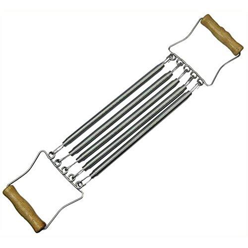 A/N bovenlichaam trekker borst Expander voor de mens - 5 Weerstand staal Oefening Lente Houten Handvat Verstelbare Spanning Afneembare Fitness Machine