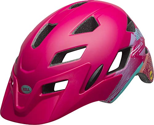 Bell Unisex Jugend SIDETRACK Youth Fahrradhelm, Gnarly mat Berry, Unisize