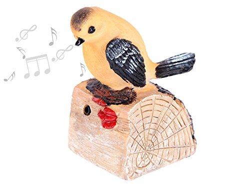 Alsino Bewegungsmelder pfeifender Vogel Durchgangsmelder zwitschernder Vogel Garten Deko, Variante wählen:78/6258 Vogel 4
