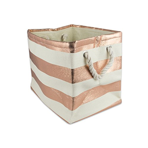 DII, Woven Paper Storage Bin, Collapsible, 15x10x12, Rugby Copper, Medium