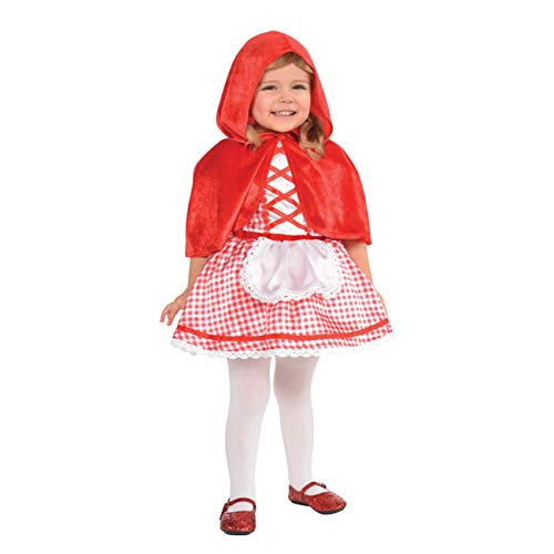 Amscan 848190 Baby Little Red Riding Hood Costume, 12-24 Months