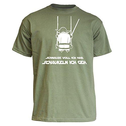 Nukular T-Shirt Schnauze voll ich hab, schaukeln ich GEH, Farbe Olive, Größe XL