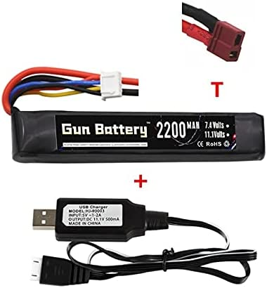 V-MAXZONE 3S Pistola de Agua Lipo batería 11,1 V 2200 mAh para Mini para Airsoft BB Pistola de Aire Juguetes eléctricos Pistola RC Piezas 11,1 v Conjunto de Cargador de batería ( Color : Black )