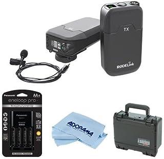 Rode Microphones RODELink Digital Wireless System for Filmmaker, Includes TX-BELT Transmitter, RX-CAM Wireless Receiver, Lavalier Mic Captive TRSCable - With SKB iSeries RodeLink Wireless Case, More