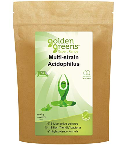 Golden Greens Multi-Strain Acidophilus Probiotic, 90 Capsules, 70 g GG12