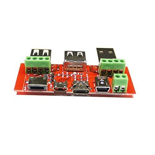 GYW-YW Tablero de Control Instrumento Monitor Juwei Tipo C de Micro USB Mini USB Junta Adaptador de Cable conversor USB probador del amperímetro Capacidad