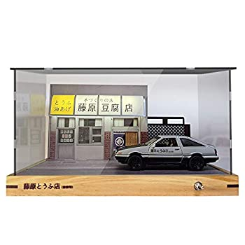 1 32 Takumi ae86 Car Model Kit Scene Initial D Car with Toyota AE86 Die-cast Vehicle Led Powered by USB JDM Model Car Toy Gift Easy Assembled